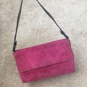 Kate Spade Vintage Magenta Velvet and Leather Bag